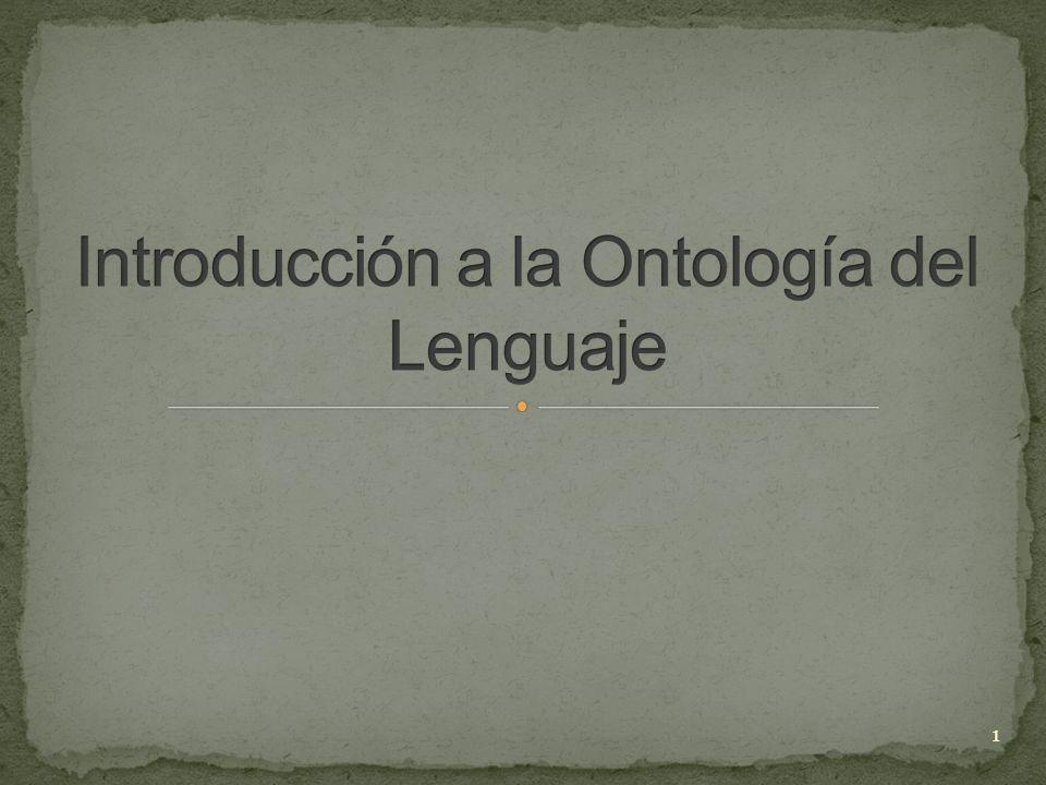 Introducción a la Ontología del Lenguaje