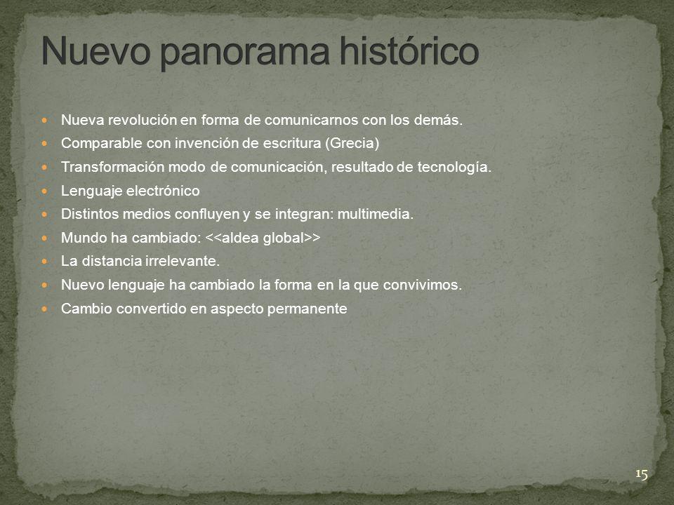 Nuevo panorama histórico