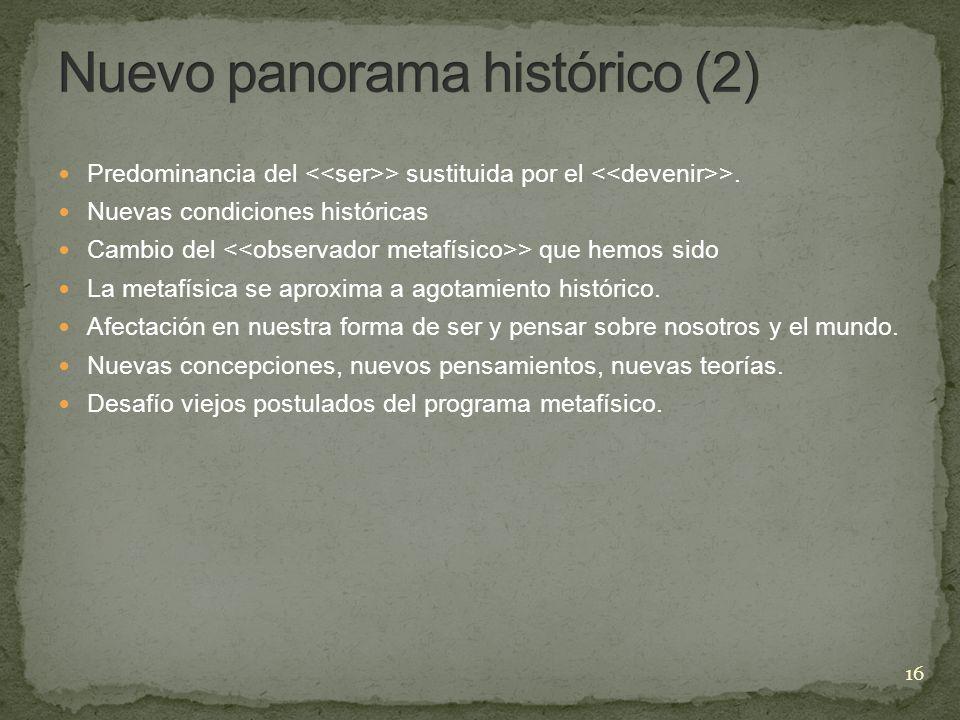 Nuevo panorama histórico (2)