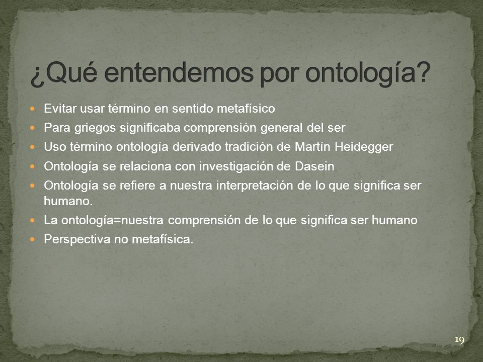 ¿Qué entendemos por ontología