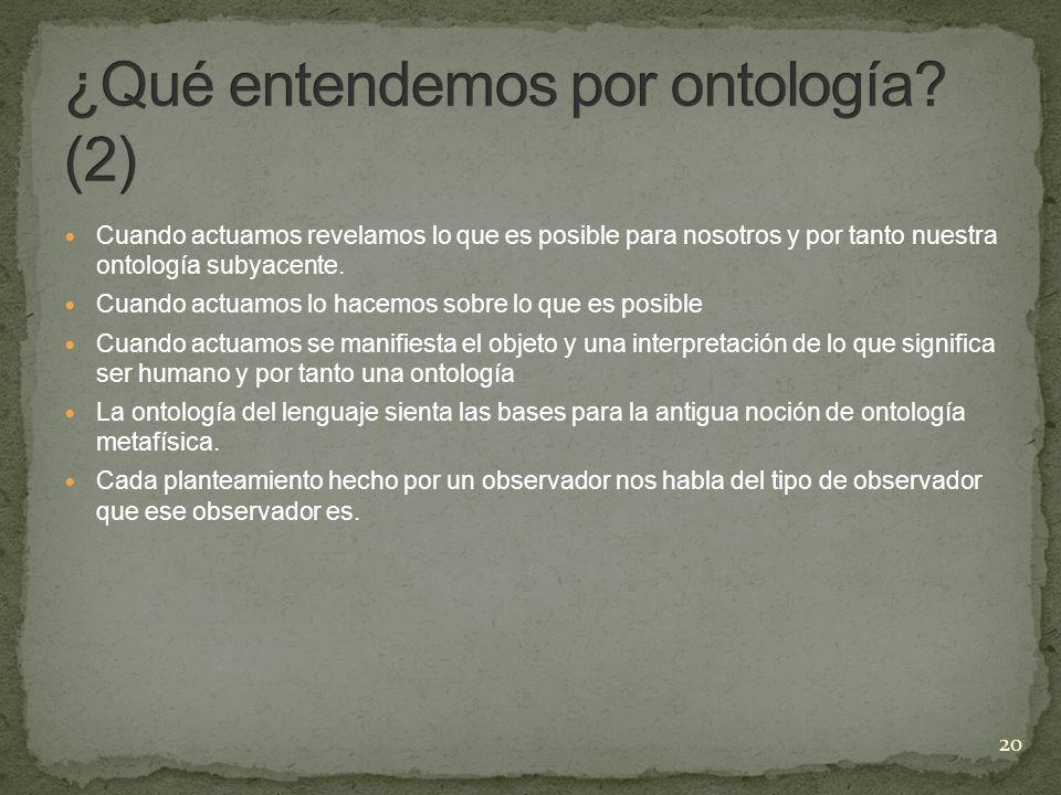 ¿Qué entendemos por ontología (2)