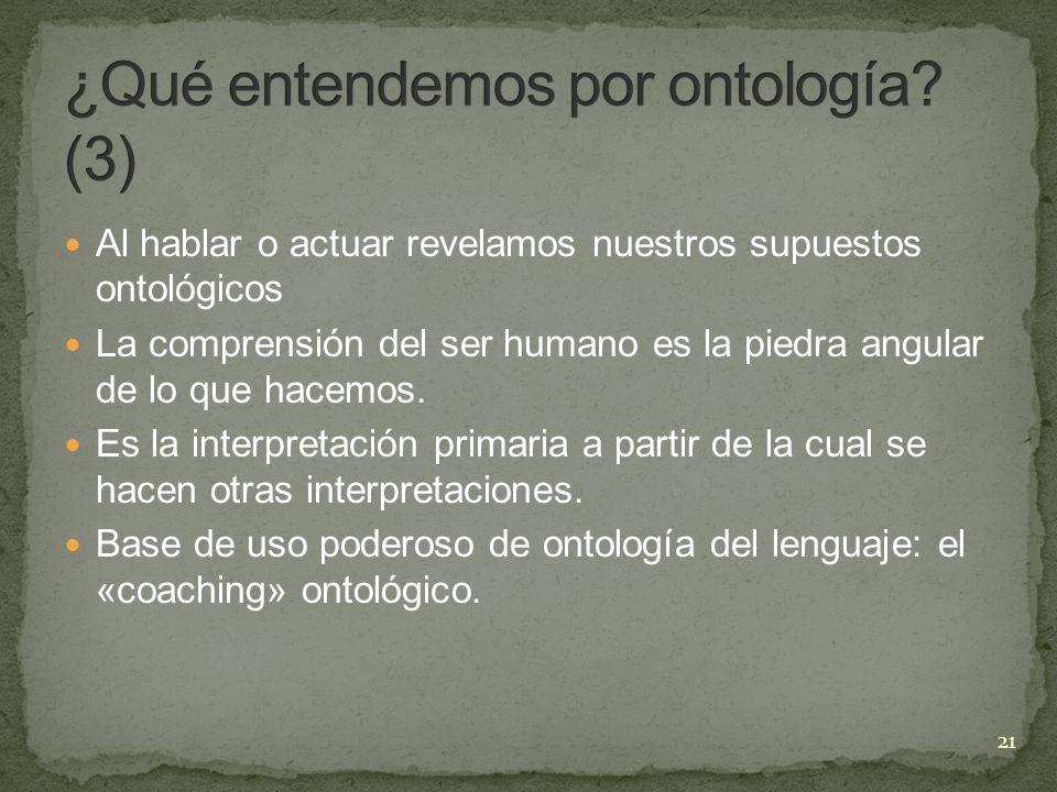 ¿Qué entendemos por ontología (3)
