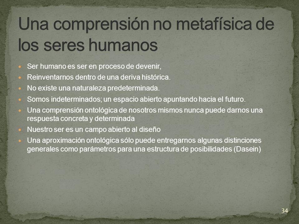 Una comprensión no metafísica de los seres humanos