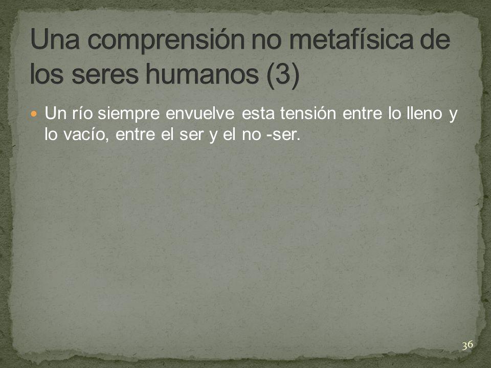 Una comprensión no metafísica de los seres humanos (3)
