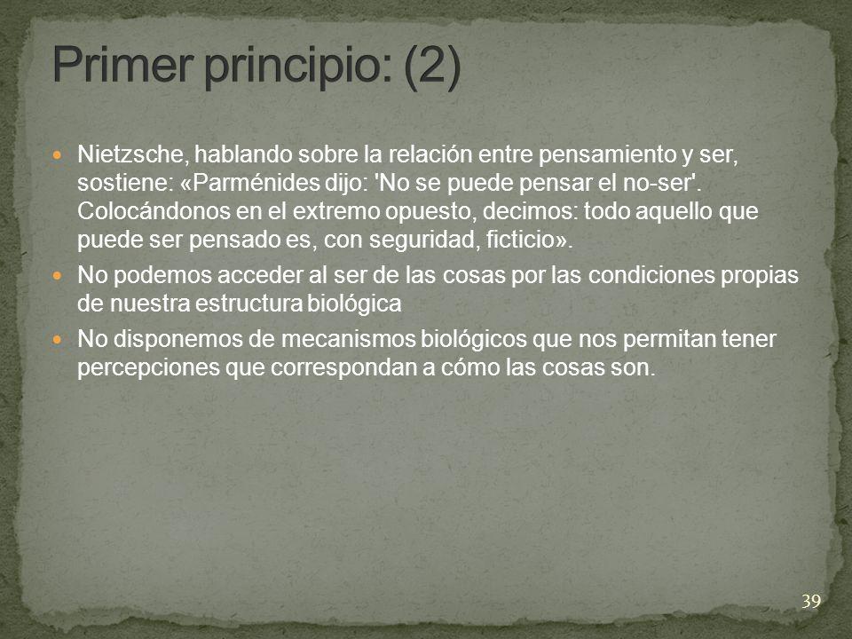 Primer principio: (2)