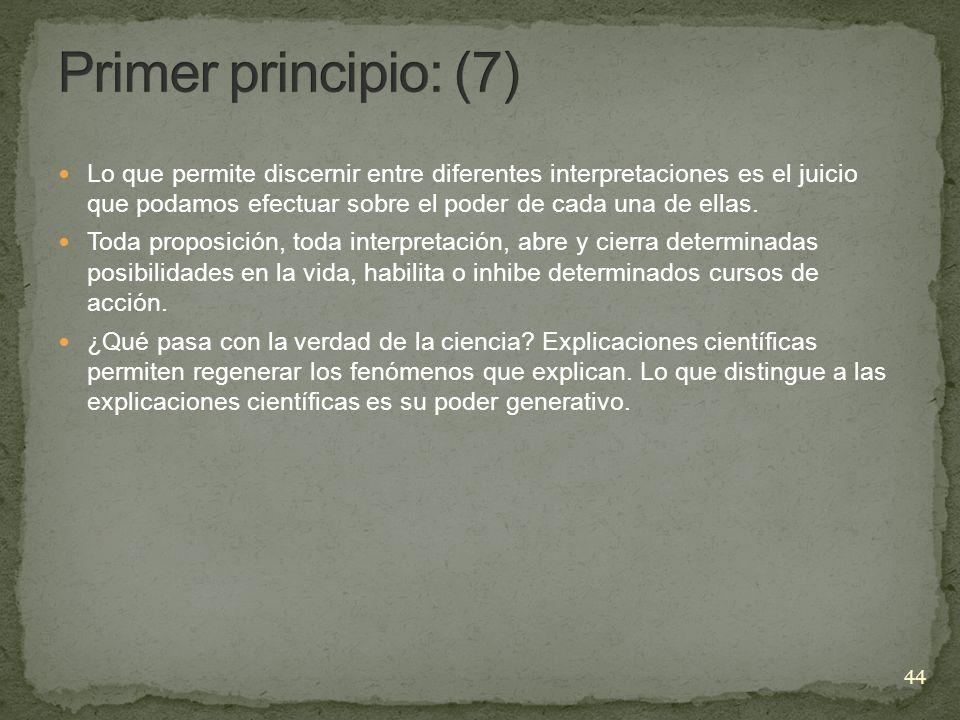 Primer principio: (7)