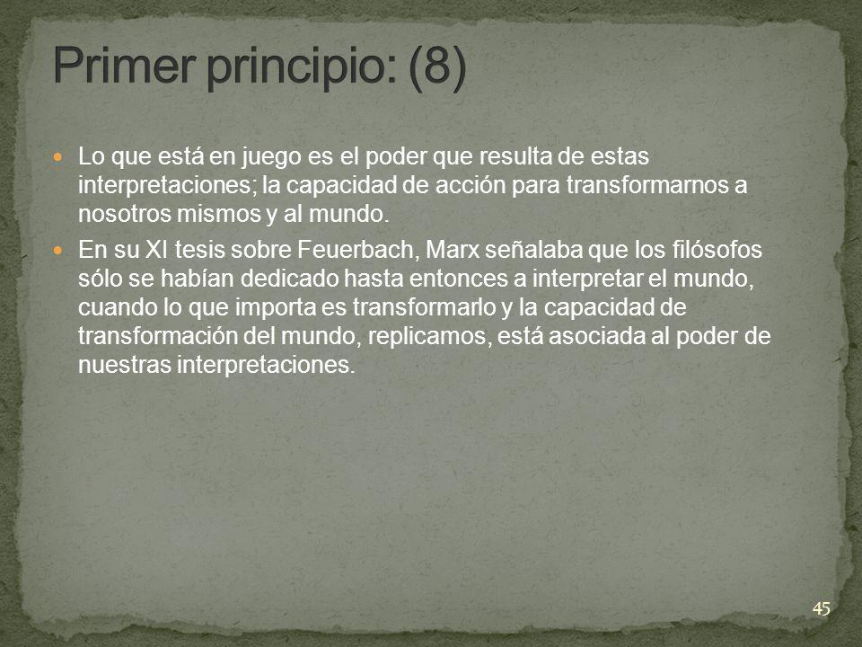 Primer principio: (8)