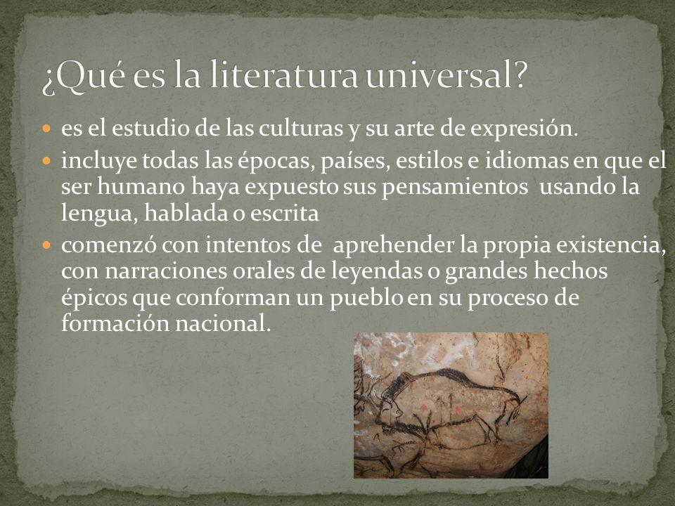 ¿Qué es la literatura universal