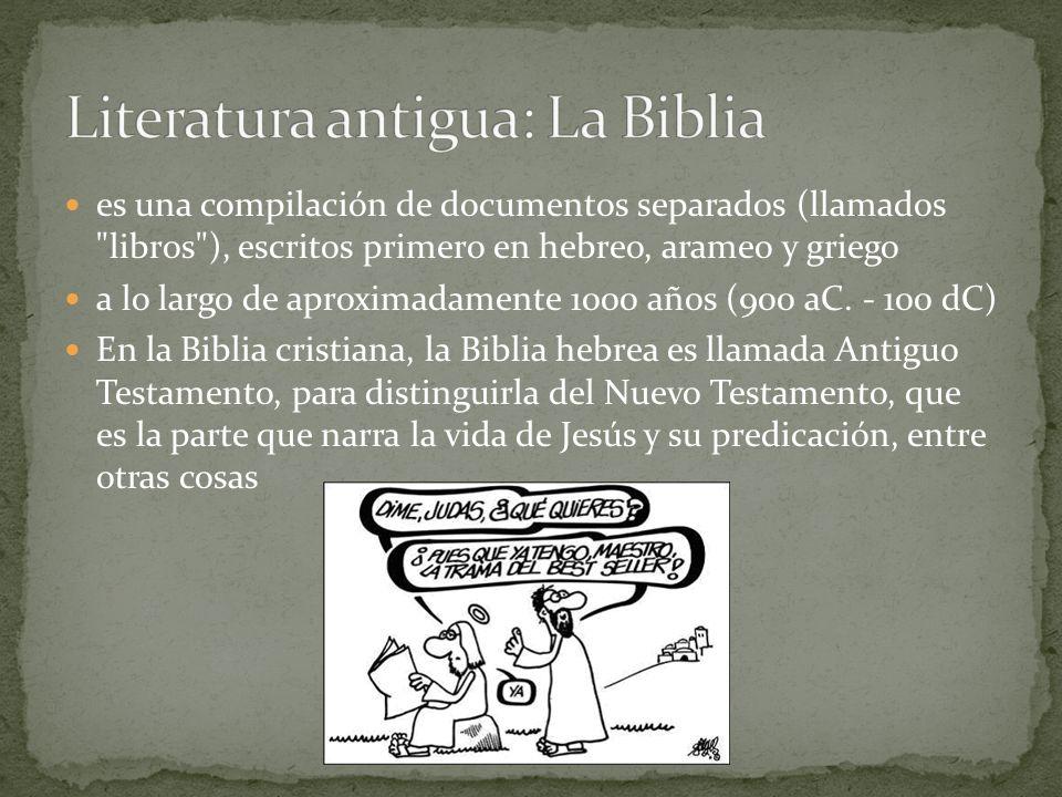 Literatura antigua: La Biblia