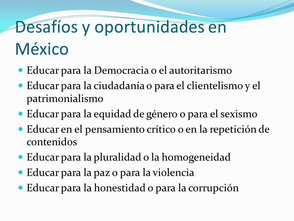 Desafíos y oportunidades en México