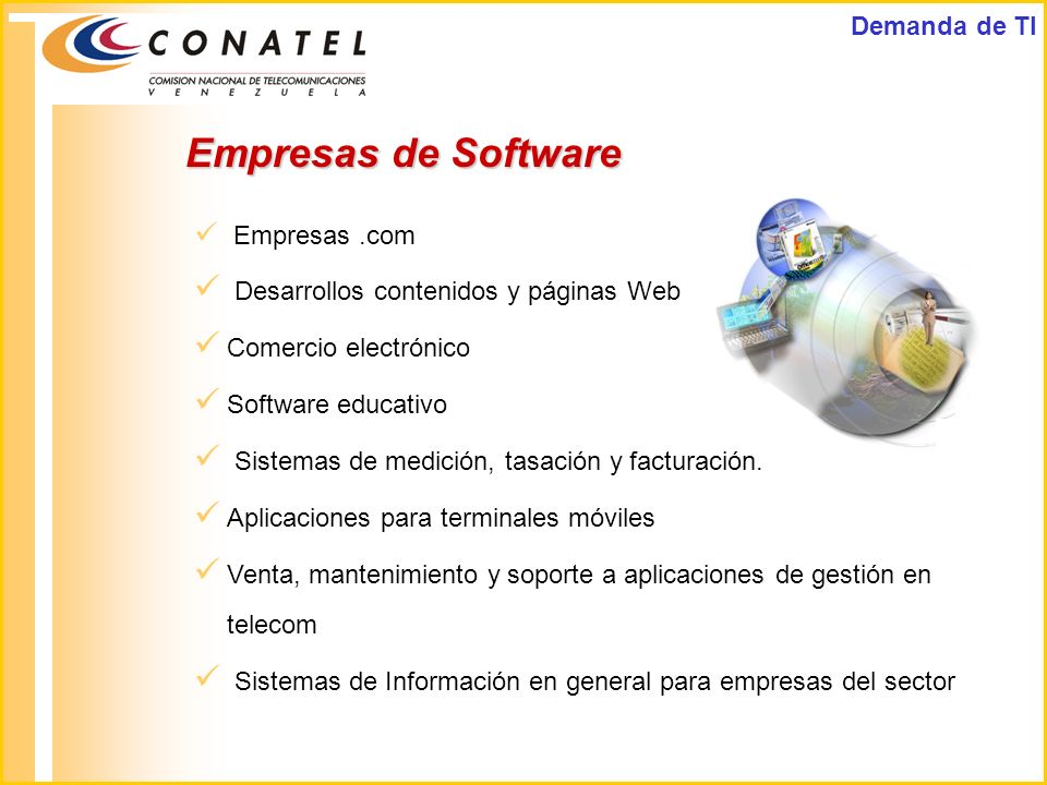 Empresas de Software Demanda de TI
