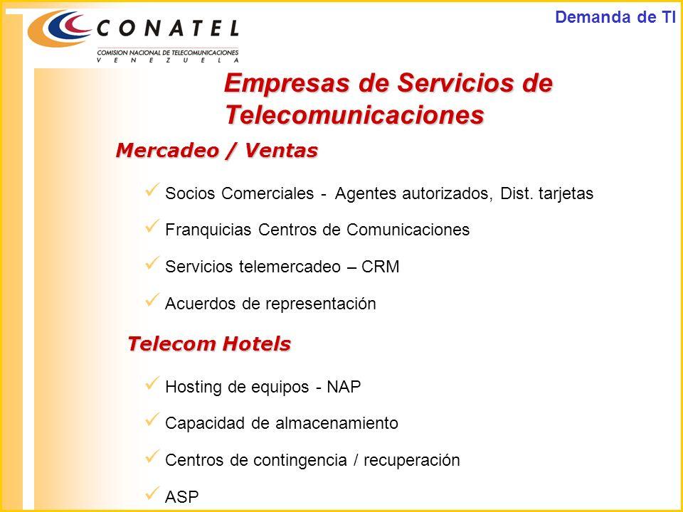 Empresas de Servicios de Telecomunicaciones