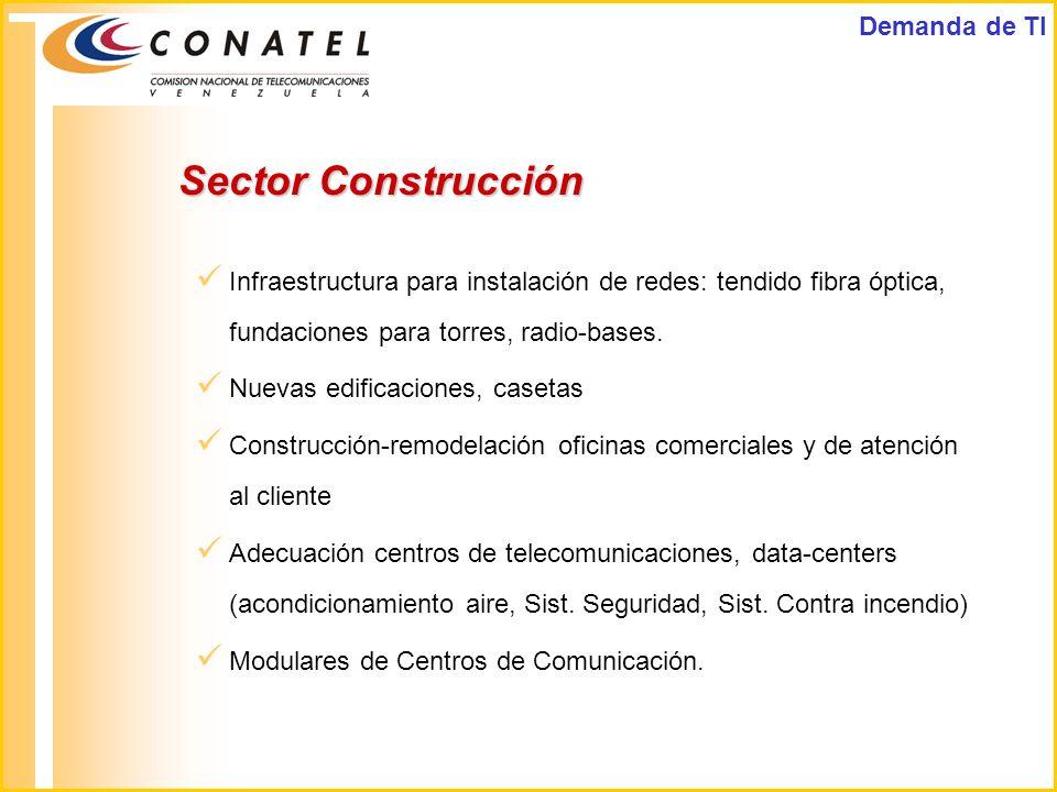 Sector Construcción Demanda de TI