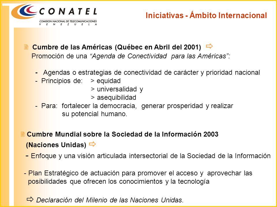 Iniciativas - Ámbito Internacional