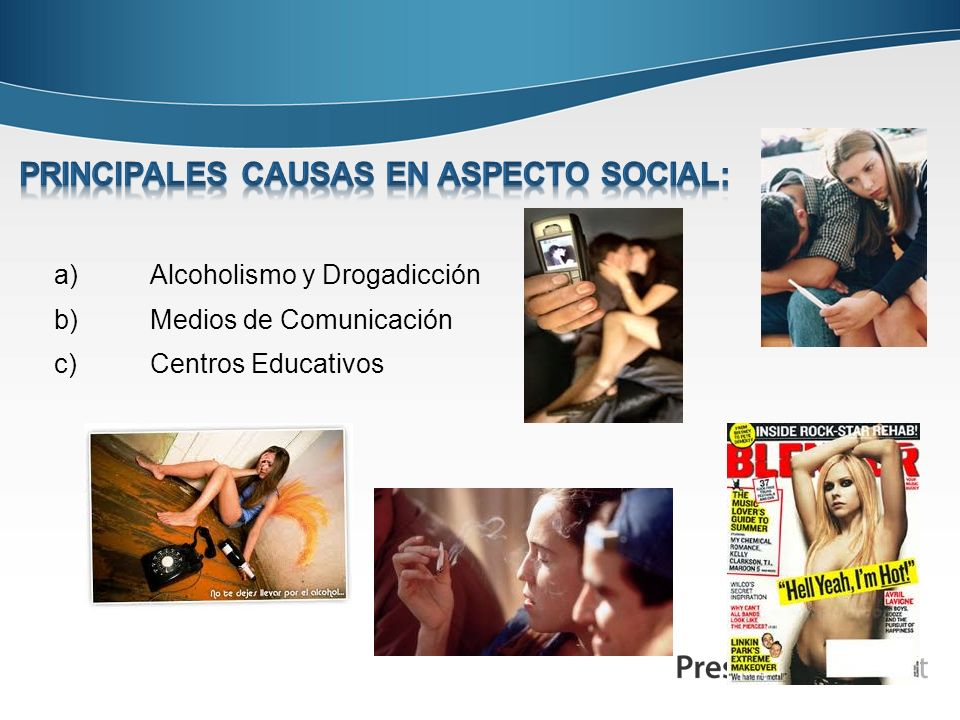 PRINCIPALES CAUSAS EN Aspecto SOCIAL: