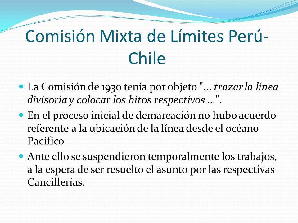 Comisión Mixta de Límites Perú-Chile