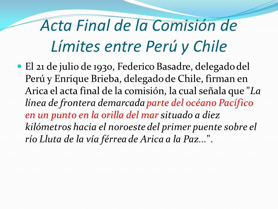 Acta Final de la Comisión de Límites entre Perú y Chile