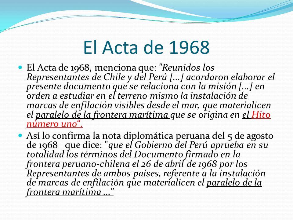 El Acta de 1968