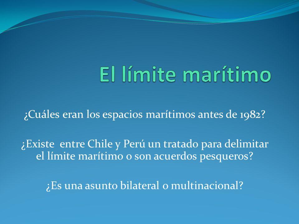El límite marítimo ¿Cuáles eran los espacios marítimos antes de 1982