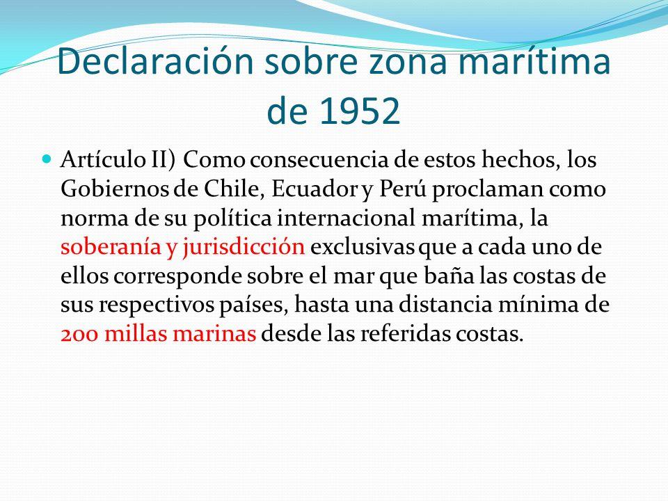 Declaración sobre zona marítima de 1952