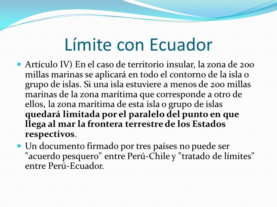 Límite con Ecuador