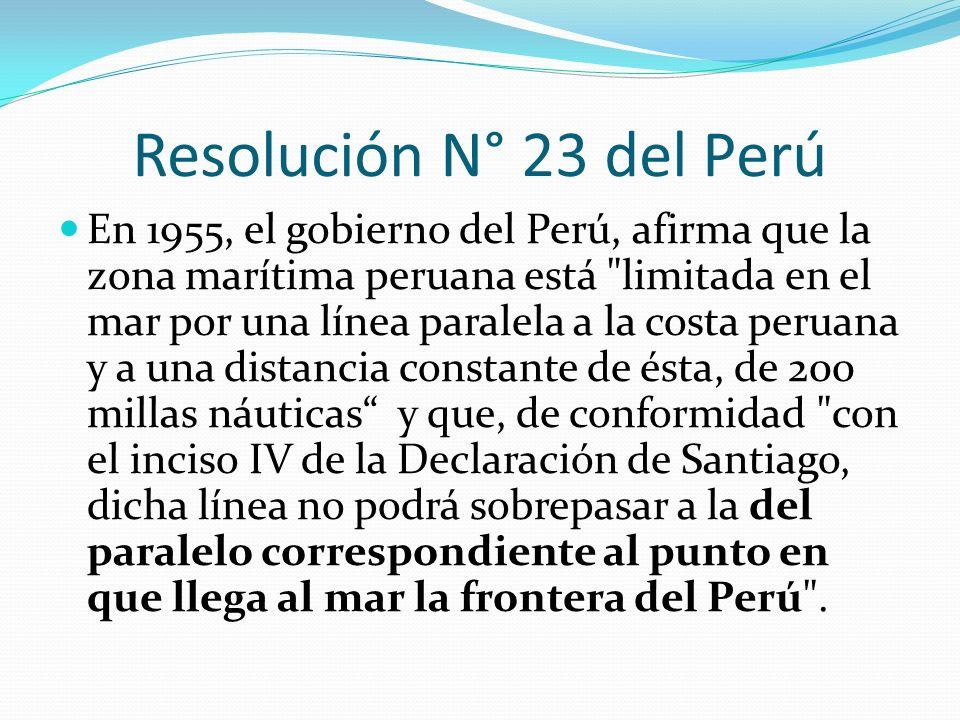 Resolución N° 23 del Perú