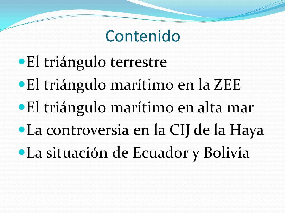 Contenido El triángulo terrestre El triángulo marítimo en la ZEE