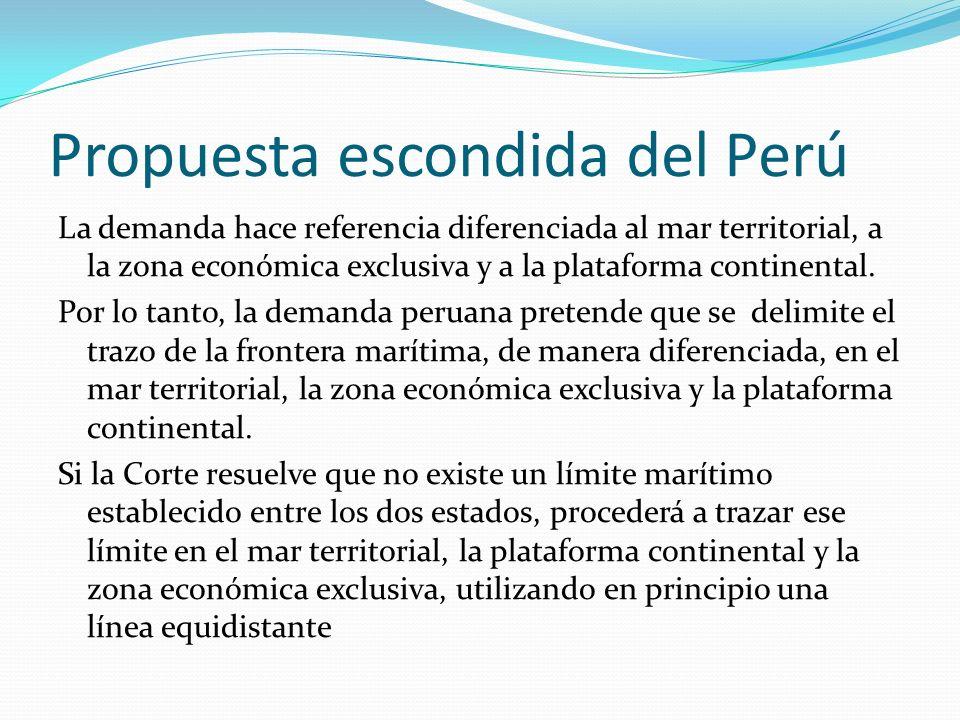Propuesta escondida del Perú