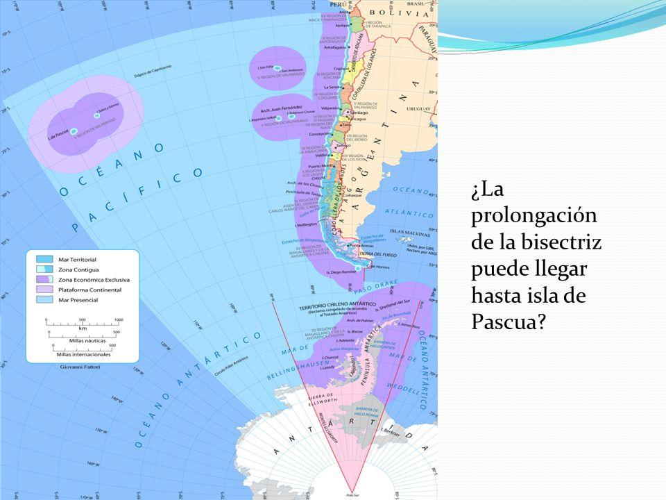 ¿La prolongación de la bisectriz puede llegar hasta isla de Pascua
