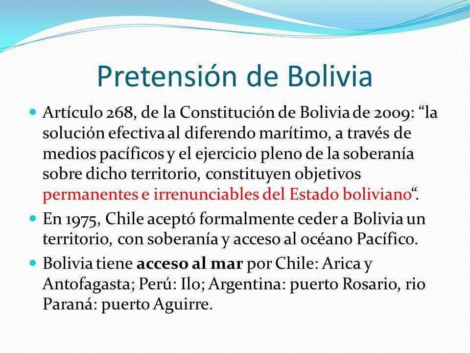 Pretensión de Bolivia