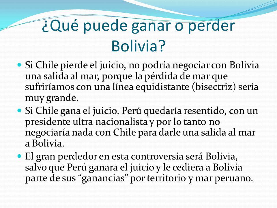¿Qué puede ganar o perder Bolivia