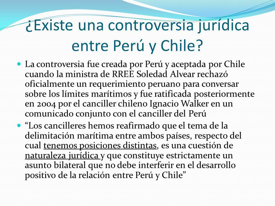 ¿Existe una controversia jurídica entre Perú y Chile