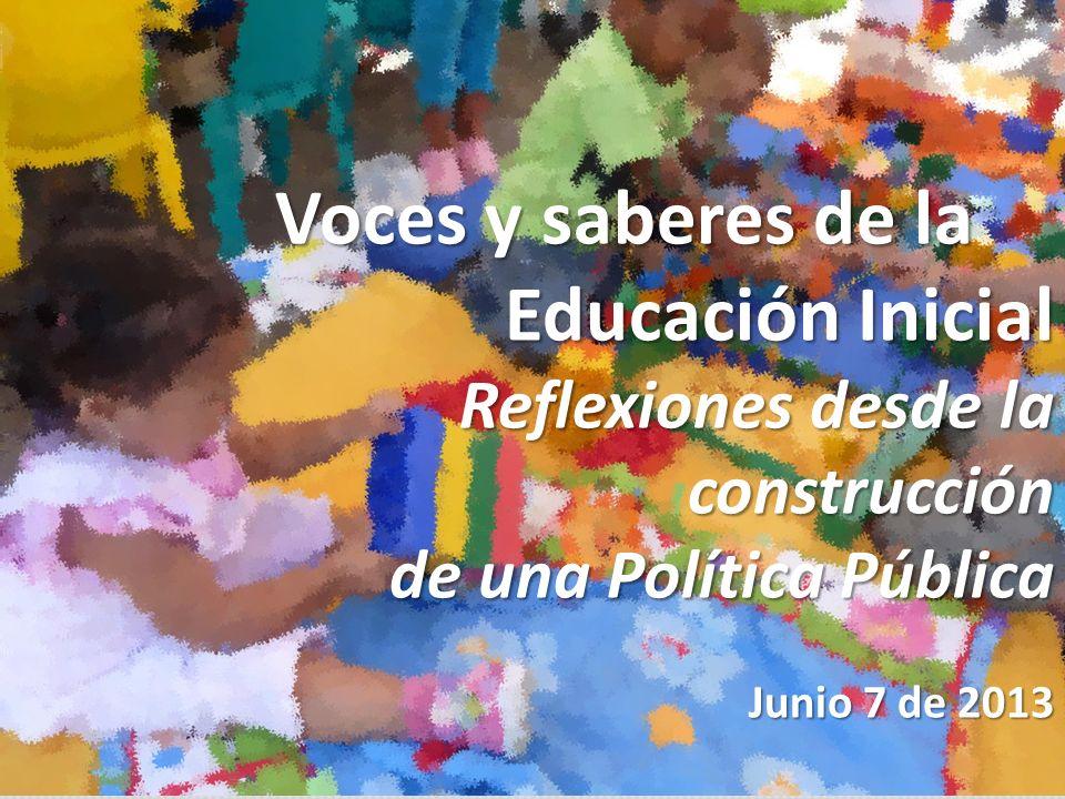 Voces y saberes de la Educación Inicial