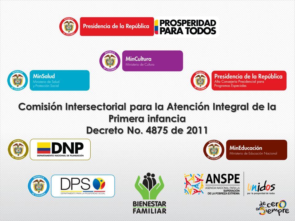Comisión Intersectorial para la Atención Integral de la Primera infancia Decreto No. 4875 de 2011