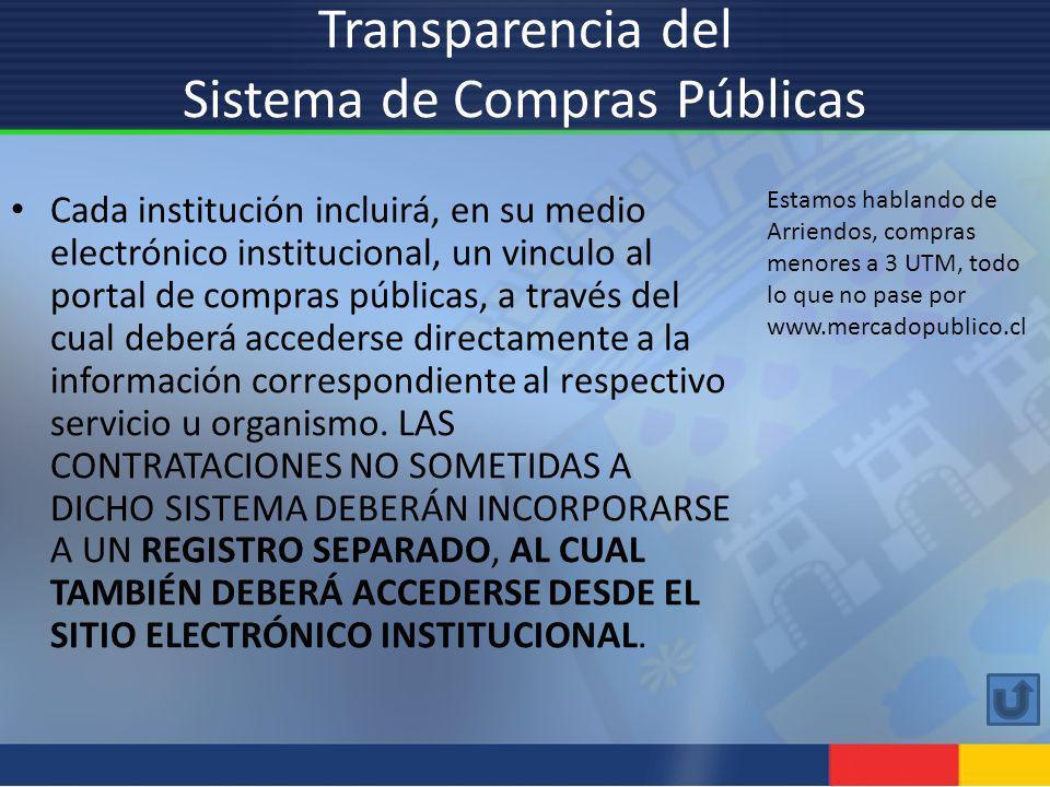 Transparencia del Sistema de Compras Públicas