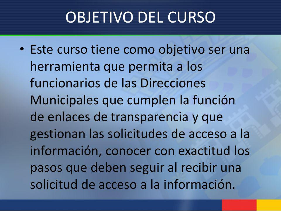OBJETIVO DEL CURSO