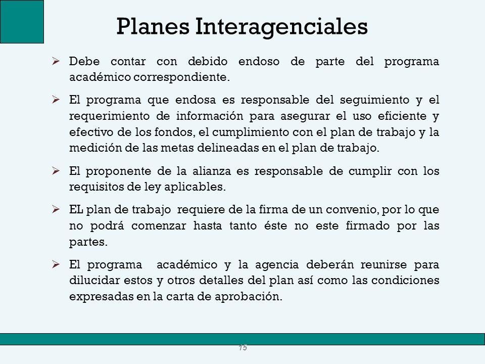 Planes Interagenciales