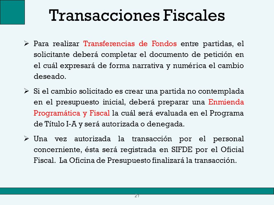 Transacciones Fiscales