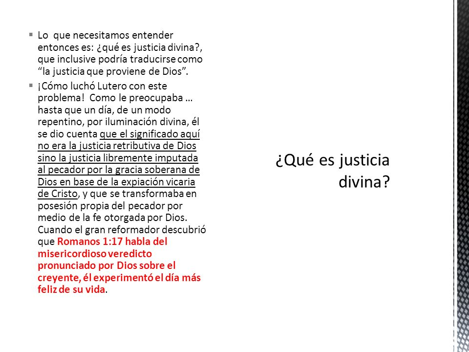 ¿Qué es justicia divina
