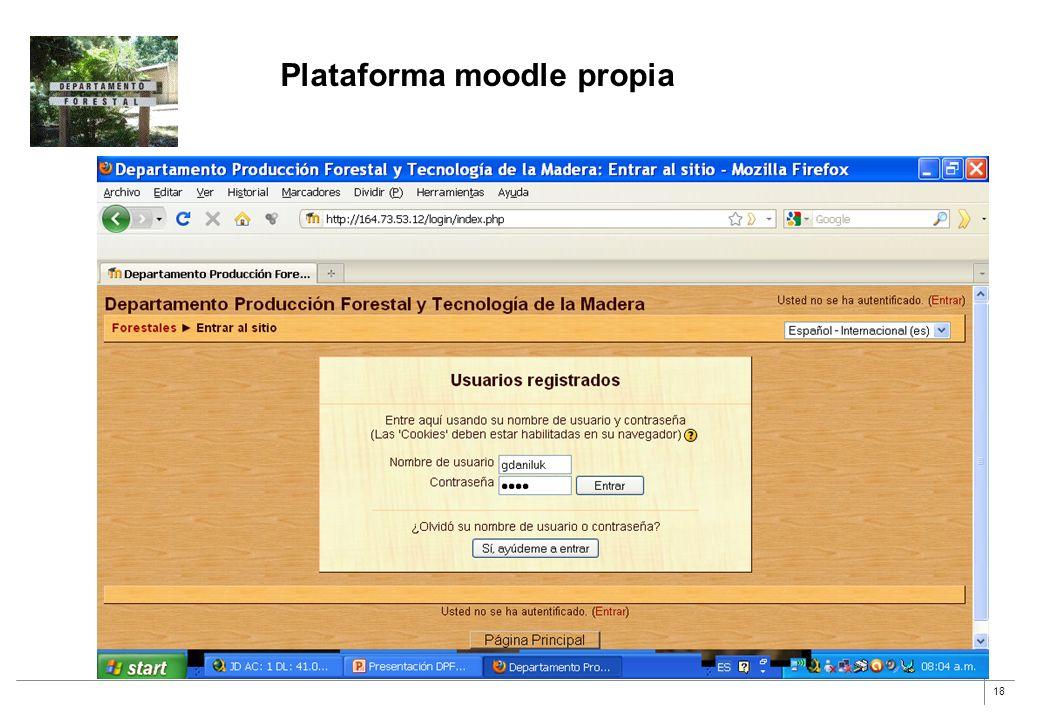 Plataforma moodle propia