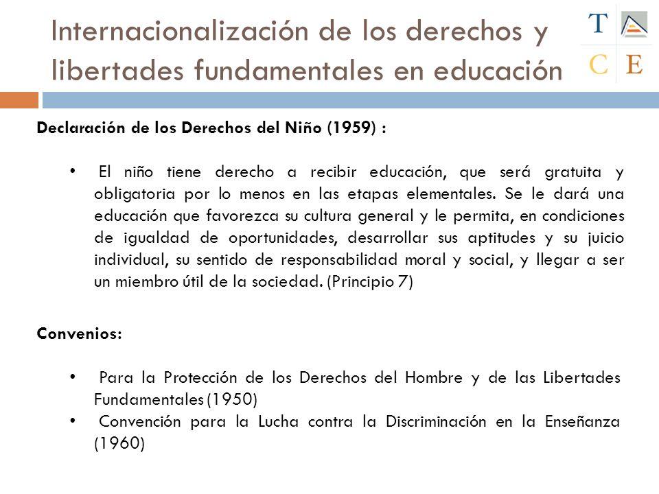 Internacionalización de los derechos y libertades fundamentales en educación