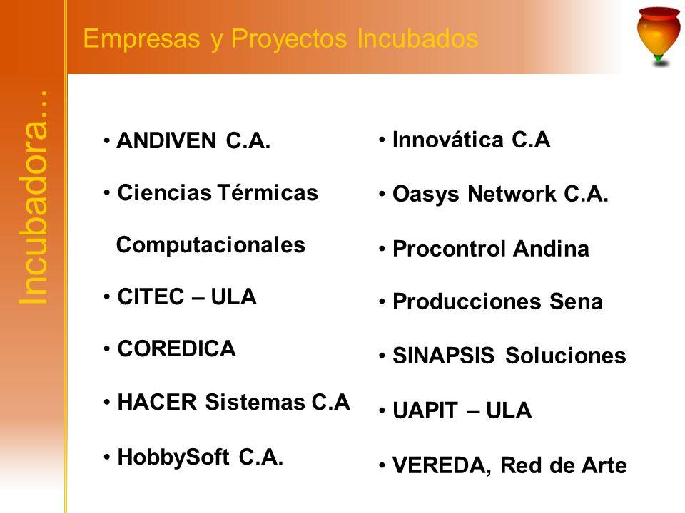 Incubadora... Empresas y Proyectos Incubados Innovática C.A
