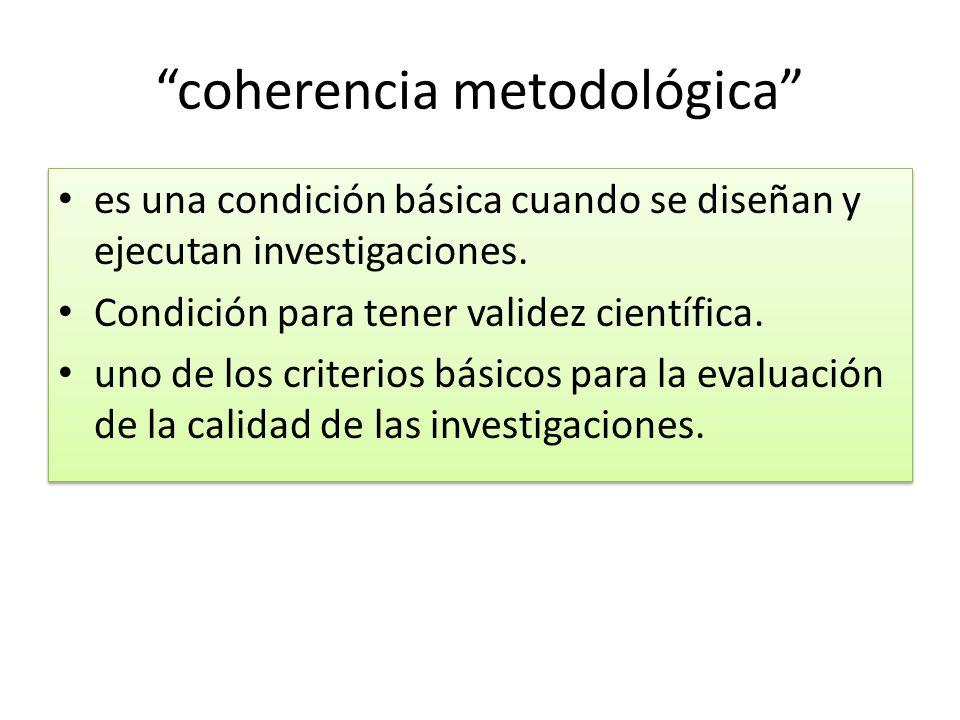 coherencia metodológica