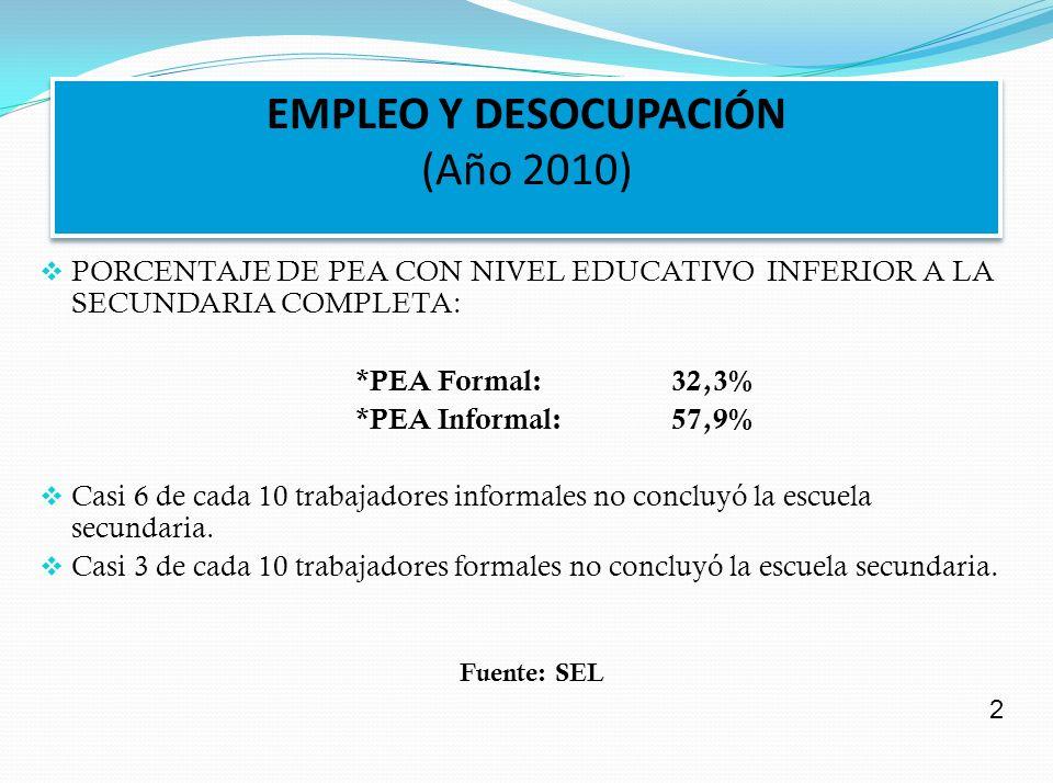 EMPLEO Y DESOCUPACIÓN (Año 2010)