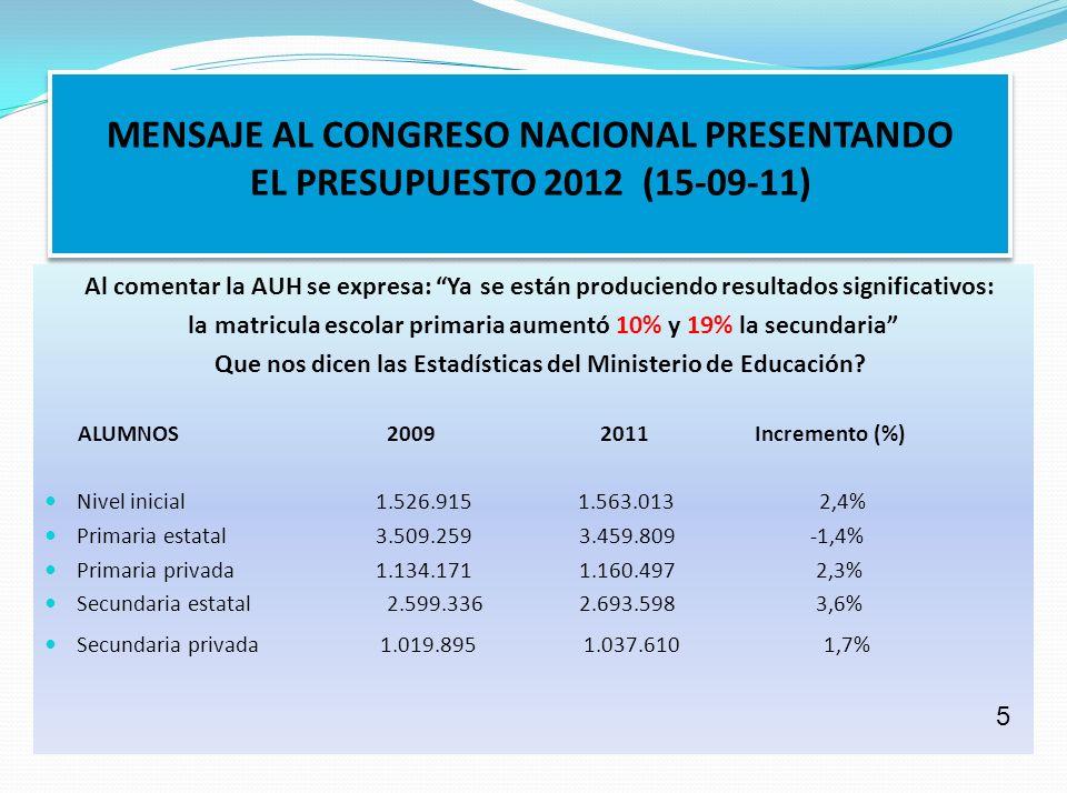 Que nos dicen las Estadísticas del Ministerio de Educación