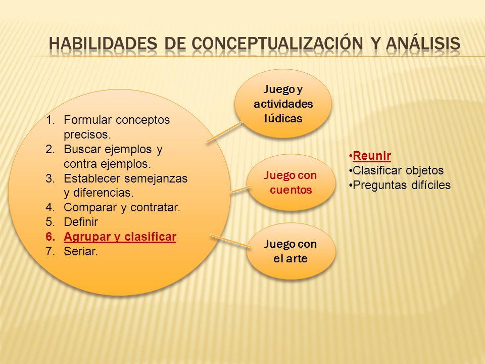habilidades de conceptualización y análisis