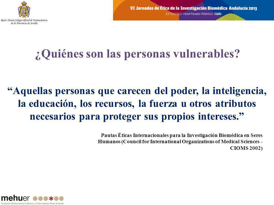 ¿Quiénes son las personas vulnerables