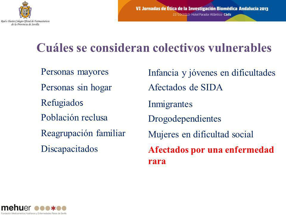 Cuáles se consideran colectivos vulnerables