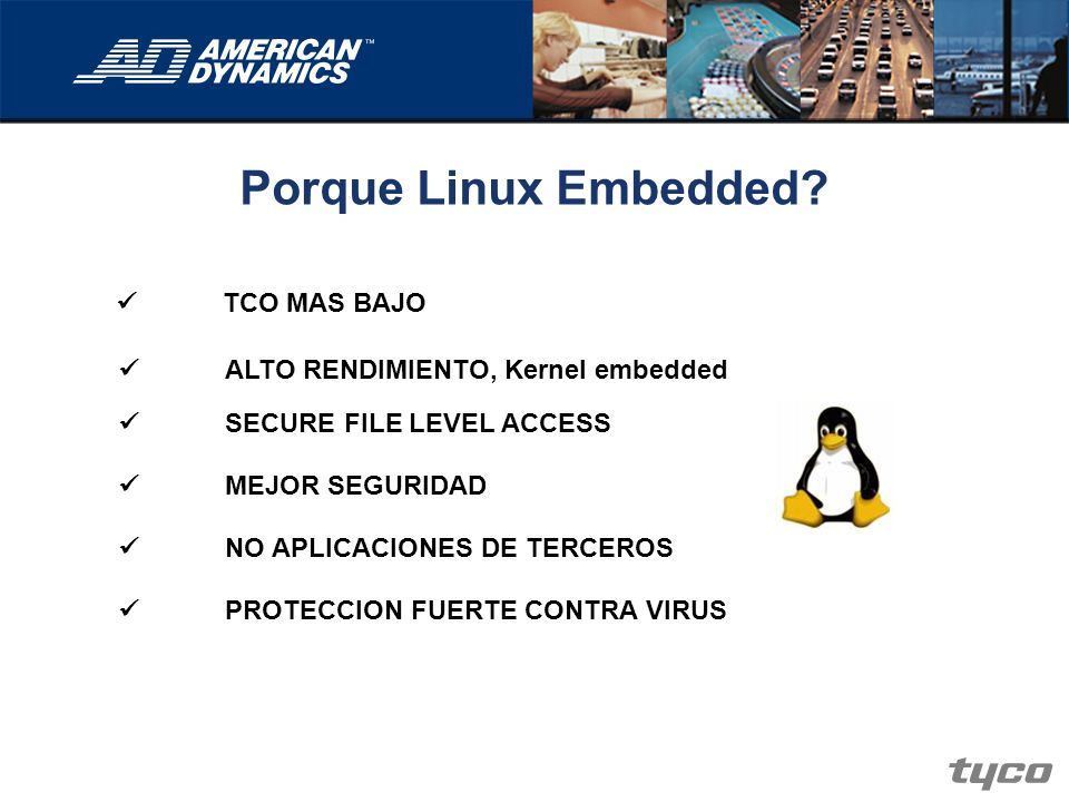 Porque Linux Embedded  TCO MAS BAJO
