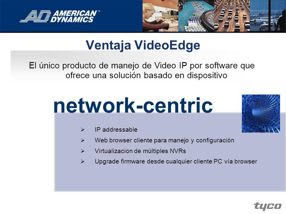 network-centric Ventaja VideoEdge